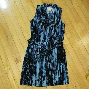 Michael Kors sleeveless blue dress size P.